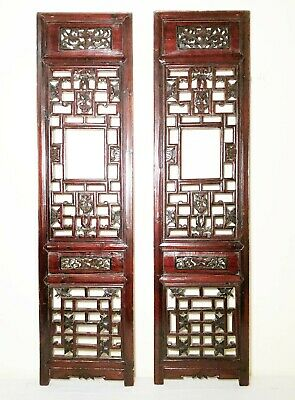 Antique Chinese Screen Panels (2936)(Pair); Cunninghamia Wood, Circa 1800-1849