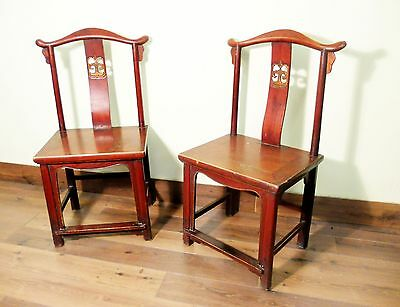 Antique Chinese High Back Chairs (5473) (Pair), Circa 1800-1849