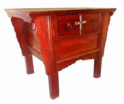 """Antique Chinese """"Butterfly"""" Coffer (5352), Cypress/Elm, Circa 1800-1849"""
