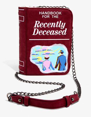 Officially Licensed Beetlejuice Handbook for the Recently Deceased Crossbody Bag