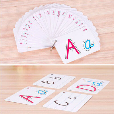 Children's Flash Cards Kids Educational Pre School Alphabet or Numbers Learning