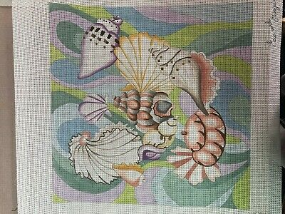 needlepoint    cbk  Seashells in Pastel