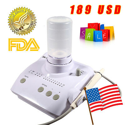 Dental Ultrasonic Piezo Scaler with Handpiece Tips Bottle f/ EMS WOODPECKER (J)I