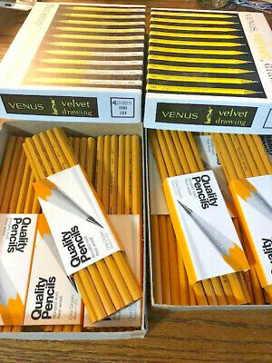 101 Vintage Venus Velvet Drawing Drafting Pencils 880 -- 2H (47) and HB (54)