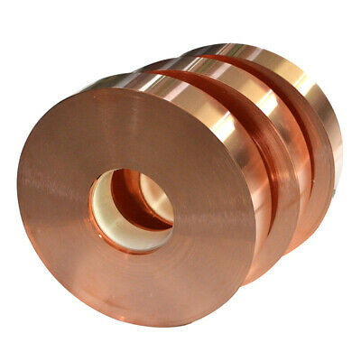 1pcs 1mm x 20mm x 1000mm 99.9% Pure Copper T2 Cu Metal Sheet Foil Plate Strip