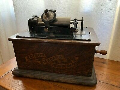 Antique Thomas Edison Standard Phonograph, Model C Reproducer