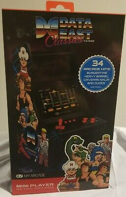 Data East Classics Mini Player Retro Arcade with 34 Games - Brand New Sealed