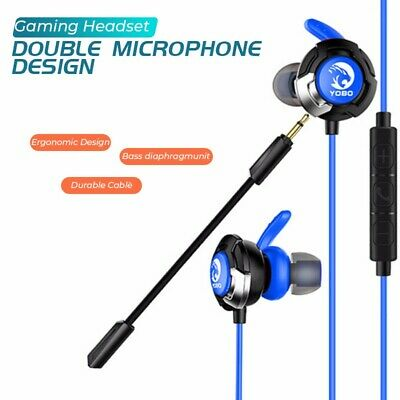 Wired Gaming Headset earphone headphone in-ear double microphones ergonomic