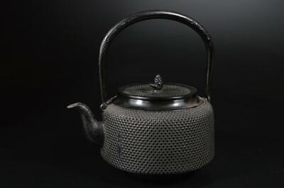U6552: Japanese Iron Arare pattern TEA KETTLE Teapot Tetsubin, auto Tea Ceremony