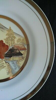Vintage Large Chokin Japanese Plate with 24 carat gold edging.