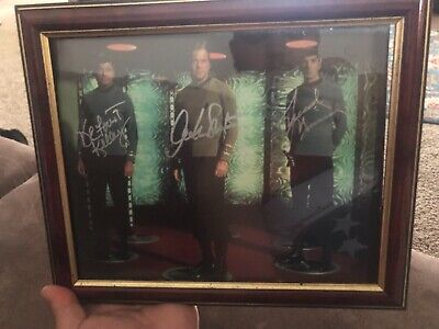 DeForest Kelley, Leonard Nimoy, William Shatner autographed photo (out of 2500)