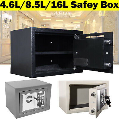 Security Safety Petty Cash Box Money Bank Deposit Steel With 2 Keys & PIN Code