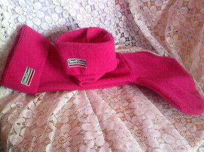 Town & County Cerise Pink Boot Liners & Cerise Pink Fleece Hood/Hat.