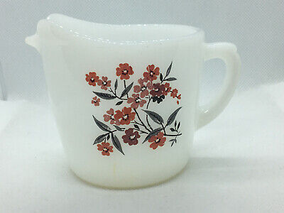 1960s Oven Fire King Ware Primrose Pattern Cream Pitcher USA  creamer