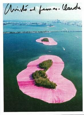 Christo  SURROUNDED ISLANDS Taschen 17 x 12,7 cm hand signed