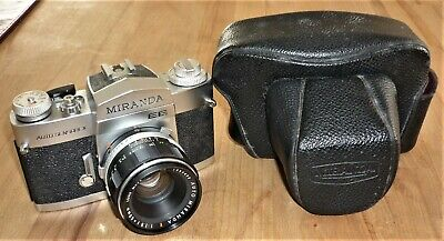 Vintage Miranda Ee Auto Sensorex Slr Camera With Case