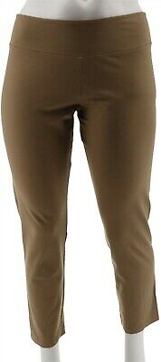 Women with Control Petite Tummy Control Ankle Pants Safari Taupe PXL NEW A286521