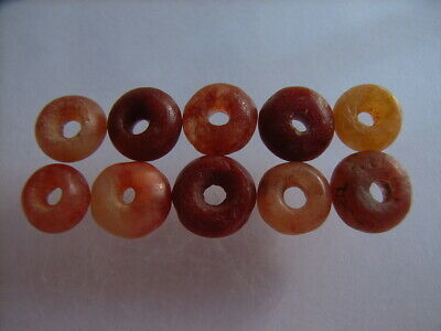 10 Ancient Roman Carnelian, Red Jasper Beads Romans VERY RARE!  TOP !!
