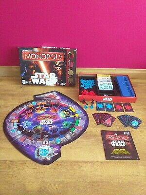 Hasbro Disney Star Wars Monopoly Board Game - 100% Complete