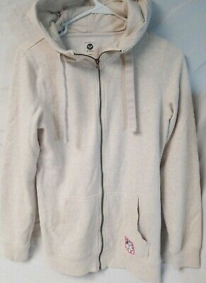 Roxy Beige Zip Up Hoodie - Women's Size XS