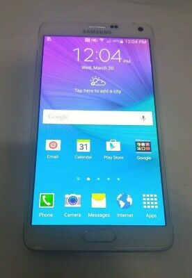 Samsung Galaxy Note 4 32GB(N910A) White - AT&T - Fully Functional - See Below