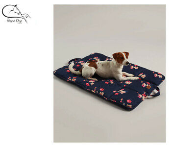Joules Navy Floral Print Travel Mat Soft Dog Pet Bed All Sizes FREE Delivery