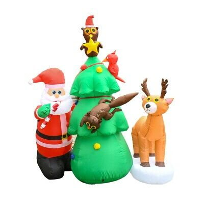 ALEKO Outdoor Yard Decoration Christmas Inflatable 7 ft Santa with Blower