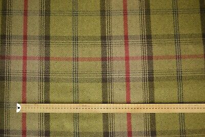 Oxford Blue Balmoral Tartan Check Wool Effect Curtain Upholstery Fabric