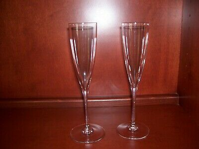 Baccarat Crystal Dom Perignon Champagne Flutes - Set Of 2