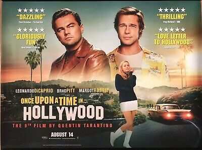 ONCE UPON A TIME IN HOLLYWOOD (MAIN) Original UK Cinema Quad Poster.