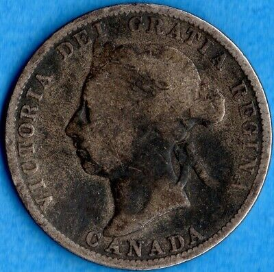 Canada 1888 25 Cents Twenty Five Cent Silver Coin - Good+