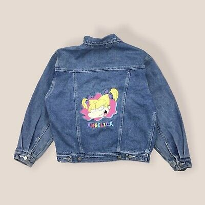 Nickelodeon Vtg 1996 Rugrats Angelica Children's Jean Jacket Size 10 Girls