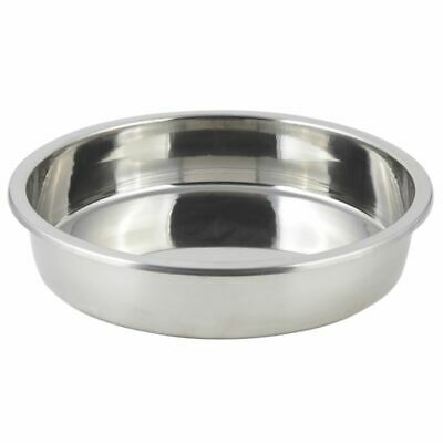 Bon Chef 12001 Round Stainless 2 Gallon Food Pan for Elite Chafers