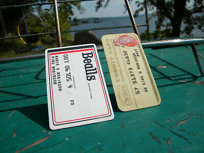 Vintage Sears & Bealls (3 Beall Brothers3,Inc.) Credit Cards Qty 2