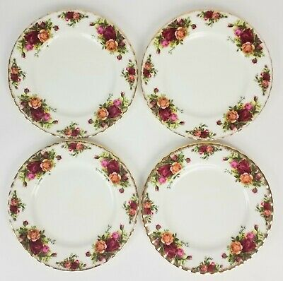 "Set Of 4 Royal Albert Old Country Roses 8-1/8"" Salad Plates 3 Sets Available"
