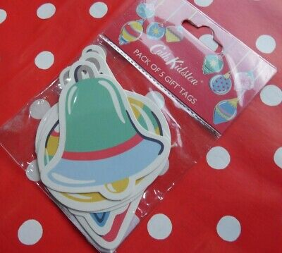 Cath Kidston Christmas Design Genuine Gift Tags Pack 5 RRP £4.00