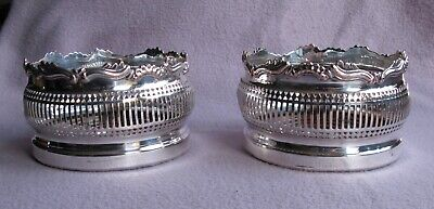 2 Superb Antique Georgian Sheffield Silver Plate Wine Coasters C1820