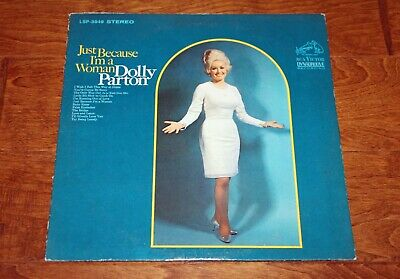 """Vintage Dolly Parton LP Vinyl Record """"Just Because I'm A Woman"""""""