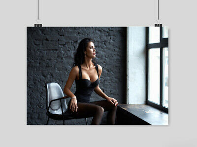 Super Hot Sexy Girl Poster Women In Chair Print Size-A3 A4