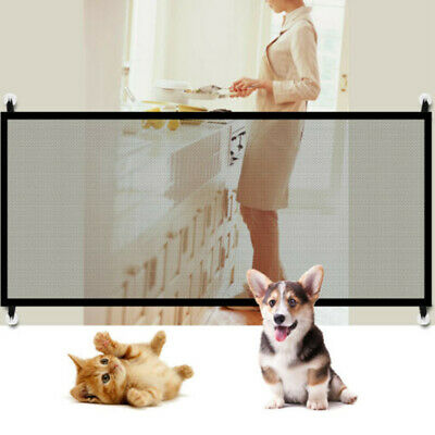 Magic Folding Net Mesh Fence Pet Dog Safety Gate Baby Enclosure Stair Guard AU