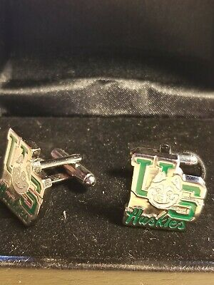 Vintage U of S Huskies Football Cufflinks University of Saskatchewan With Box