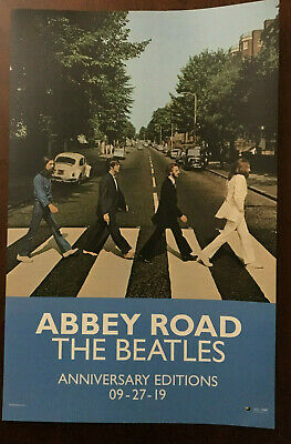 The Beatles ABBEY ROAD Official 50th Anniversary Edition POSTER Promo 11x17