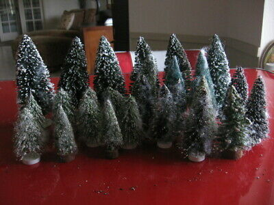 Bottle Brush Christmas Trees/Holiday Scenery Decorations-26 Assorted Sizes