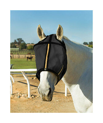 Noble Outfitters Guardsman Fly Mask with Ears Noble Gold Color XLarge Size 12407
