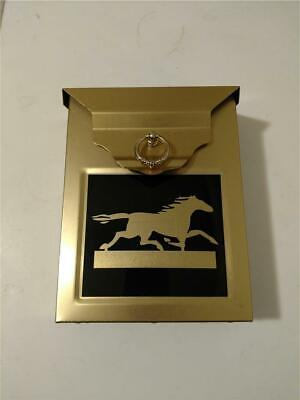 Home Expressions MB 675 Brass Wall Mount Letter Mail Box,Horse Decal on front