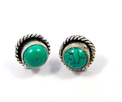Turquoise .925 Silver Plated Handmade Stud Earring Jewelry JC8127