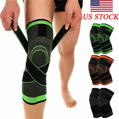 Knee Sleeve Compression Brace Patella Support Stabilizer Sports Gym Joint Pain M