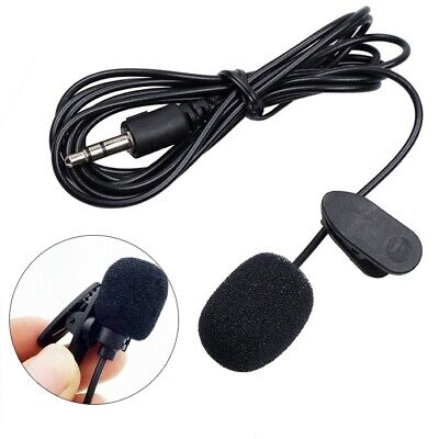 AU_ 3.5mm Wired Lapel Clip Omnidirectional Microphone Lavalier Mic for Loudspeak