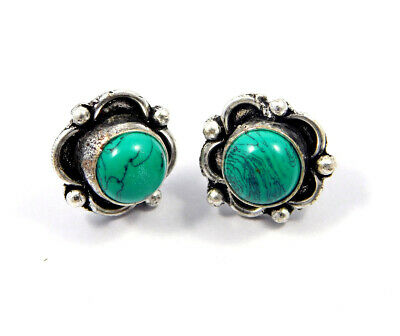 Turquoise .925 Silver Plated Handmade Stud Earring Jewelry JC8129