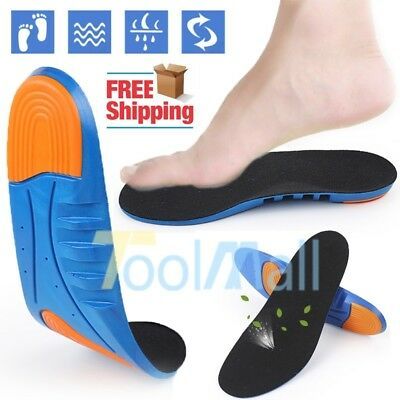 Men Women Orthotic Running Gel Insoles Insert Shoe Pad Arch Support Cushion #US